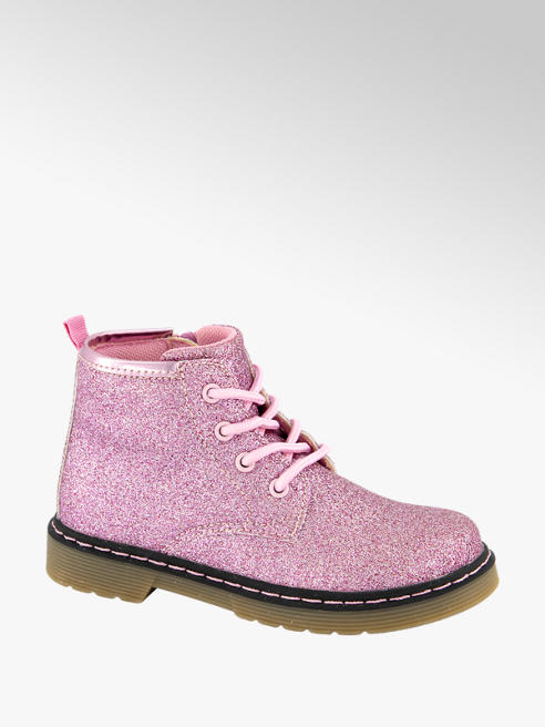 Cupcake Couture Roze veterboot glitter