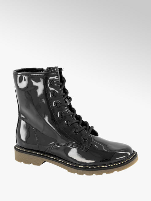 Graceland Zwarte lak veterboot