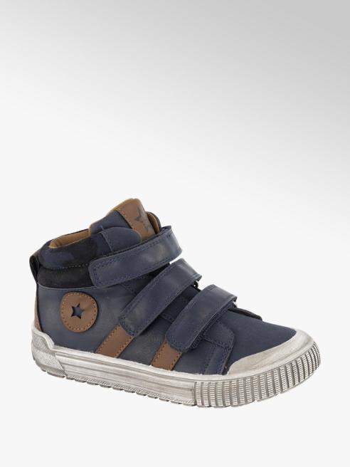 Vty Donkerblauwe halhoge sneaker klittenband