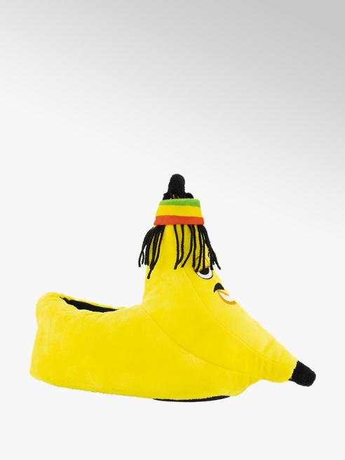 Gele banaan pantoffel
