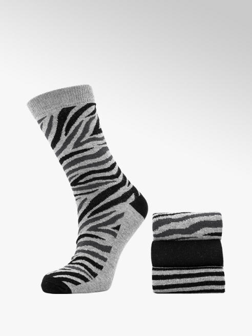 Grijze sokken 3 pak mt 36-41