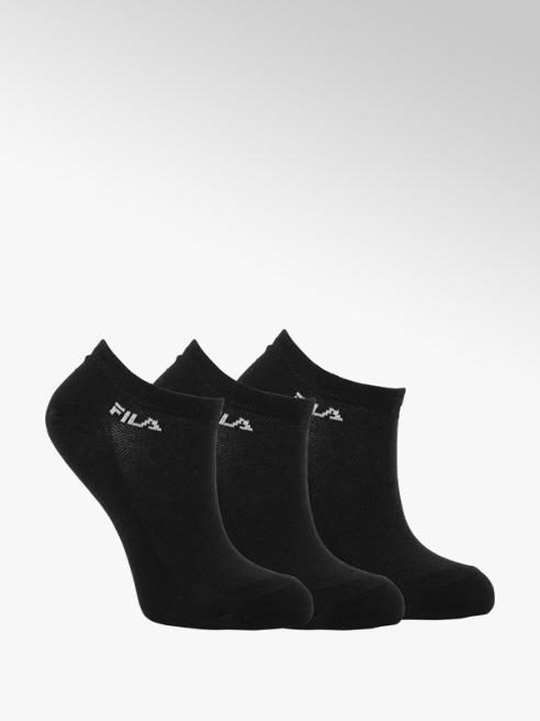 Fila Zwarte sneakersokken 3 pak mt 35-42