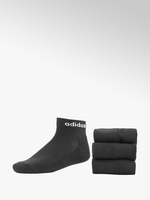 adidas Zwarte HC Ankle 3 Pak mt 43-45