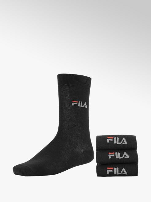 FILA Zwarte sok 3 pak mt 39-42