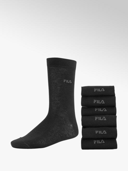 FILA Zwarte sok 6 pak mt 39-46
