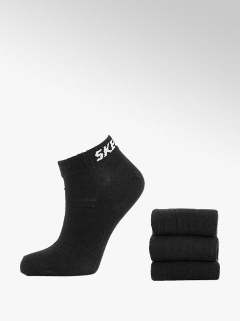 Skechers Zwarte sneaker sok 3 pak mt 35-46