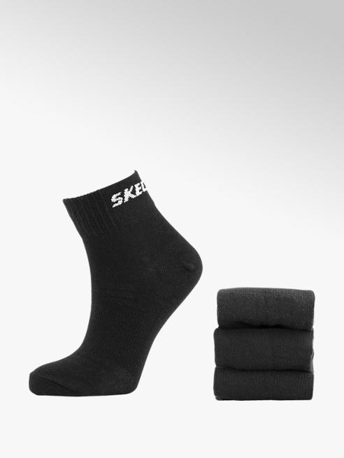 Skechers Zwarte quarter sok 3 pak mt 35-46