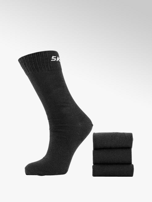 Skechers Zwarte sok 3 pak mt 35-46