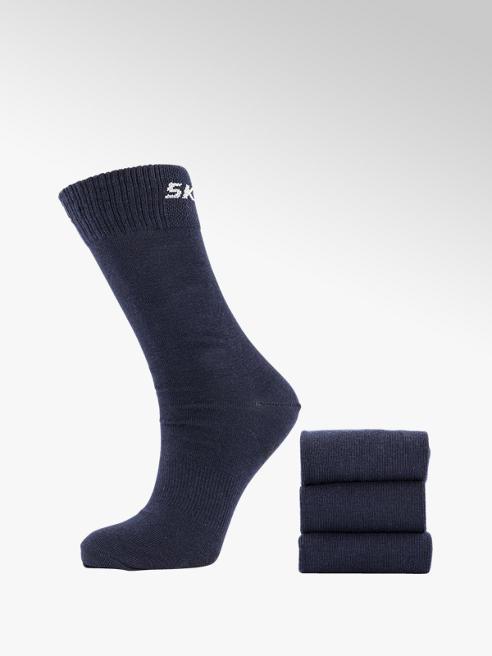 Skechers Donkerblauwe sok 3 pak mt 35-46