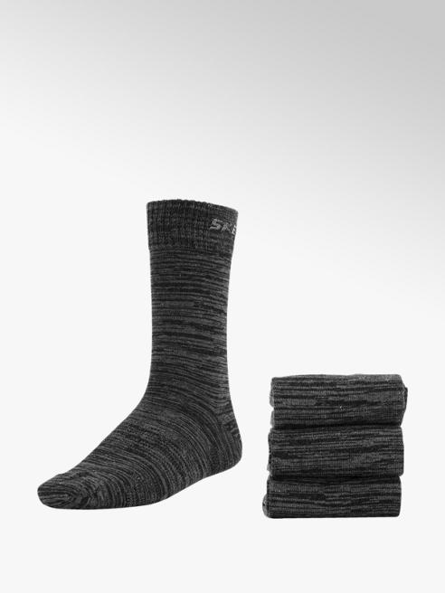 Skechers Grijs gemêleerde sokken 3 pak mt 39-46