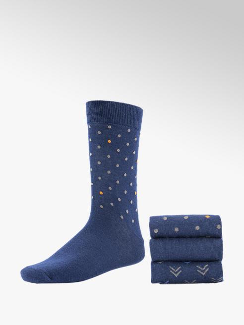 Donkerblauwe sokken 3 pak mt 41-46