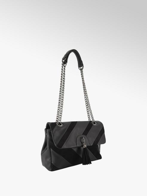 Graceland Zwarte schoudertas kwastje