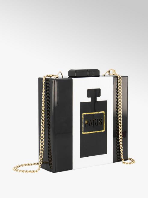 Graceland Zwarte clutch gouden details