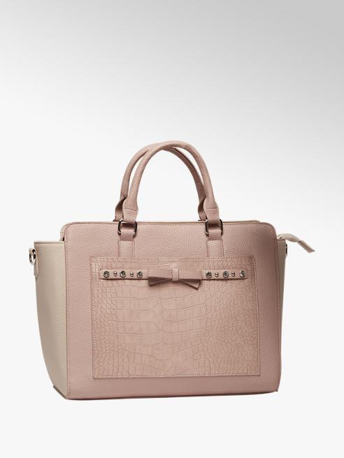Graceland Roze handtas croco