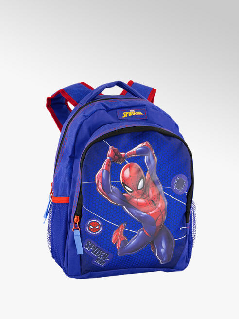 Blauwe rugtas spiderman