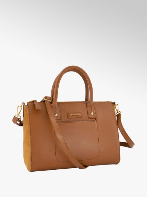 5th Avenue Cognac leren handtas