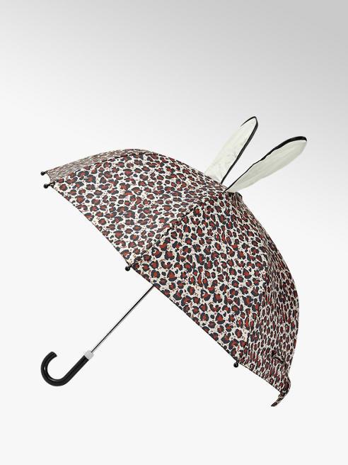 Cupcake Couture Bruine panterprint paraplu met oren