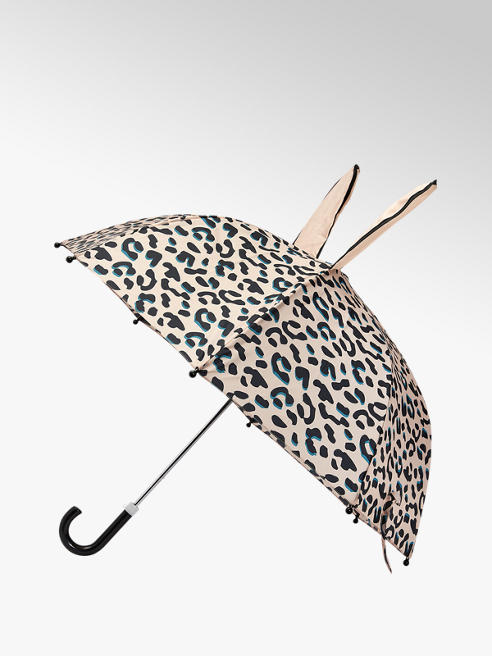 Cupcake Couture Roze panterprint paraplu met oren