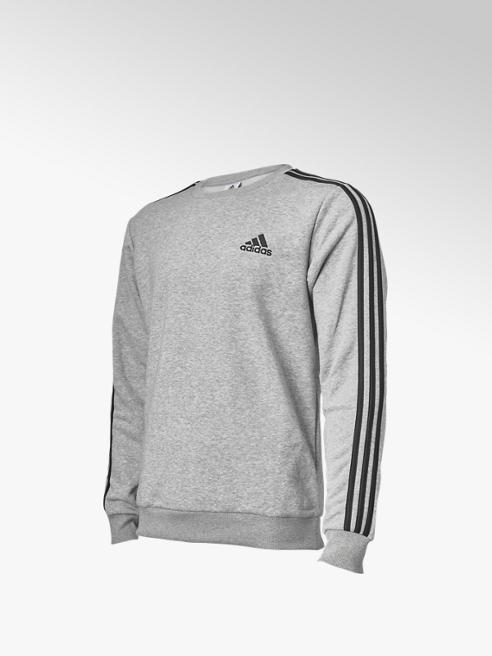 adidas Grijze 3S Fl Sweater - Heren
