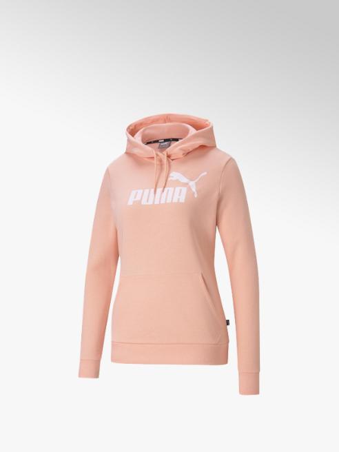 Puma Perzikkleurige Ess Logo Hoodie - dames