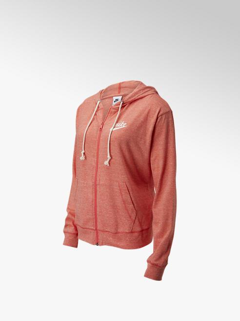 Nike Perzikkleurige Nsw Gym Vintage Jersey Fz Hoodie - Dames