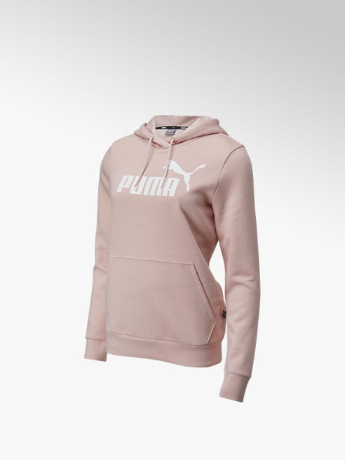 Puma Roze Ess Logo Hoodie Fleece - Dames
