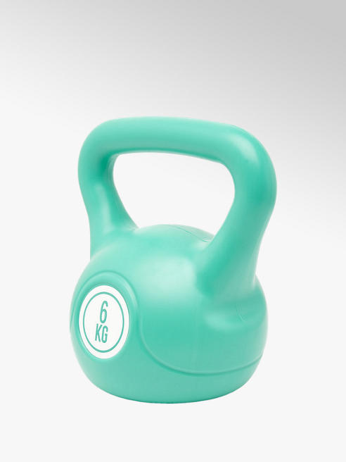 Fit Essentials Turquoise kettlebell 6 kg