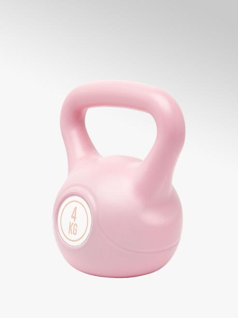 Fit Essentials Roze kettlebell 4 kg