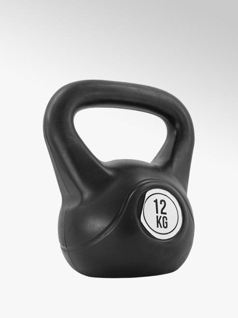 Fit Essentials Zwarte Kettlebell 12 kg