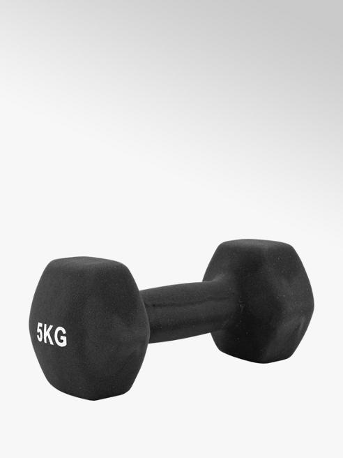 Fit Essentials Zwarte Dumbbell 5 kg
