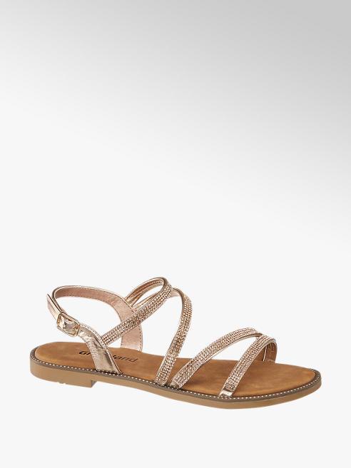Graceland Rose Gold Diamante Sandals