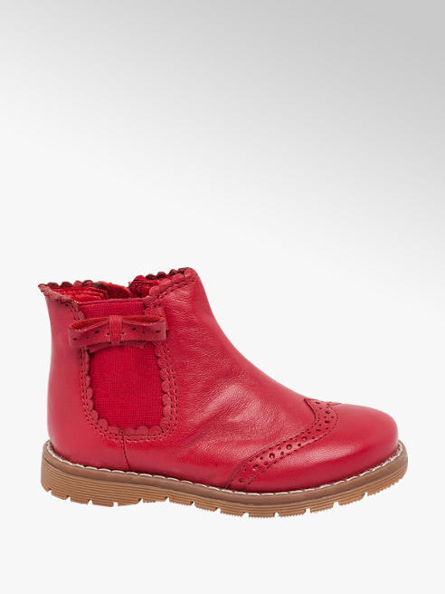 Cupcake Couture Toddler Girl Red Leather Chelsea Boots