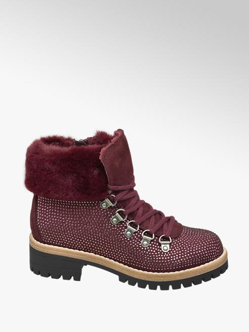 Graceland Junior Girl Embellished Hiker Style Ankle Boots