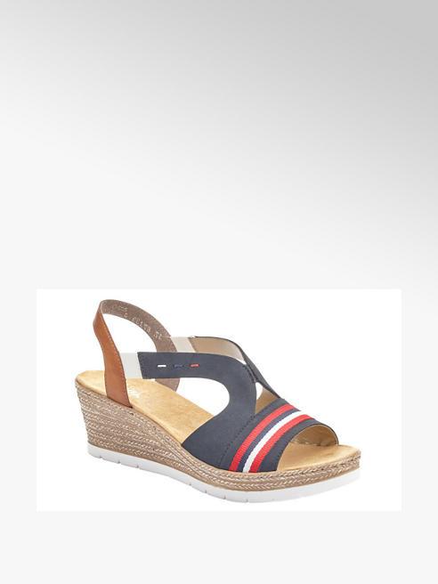 Rieker Дамски сандали с клиновиден ток