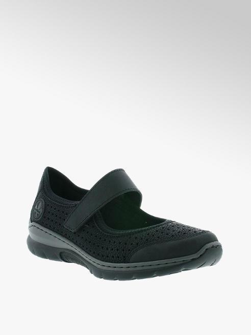 Rieker Дамски черни комфортни обувки Rieker