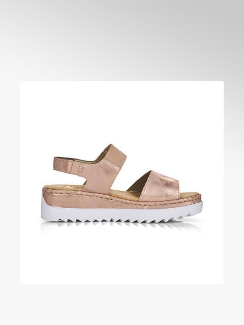 Rieker Дамски розови комфортни сандали Rieker