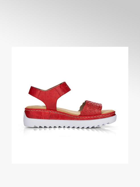 Rieker Дамски червени кофортни сандали Rieker