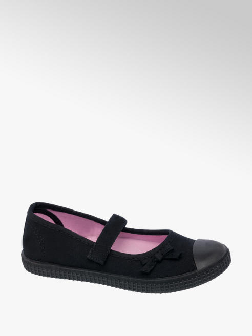 Girls Bar Plimsolls (Sizes 1-5)