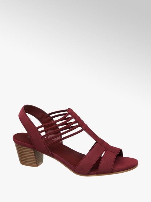 Graceland Дамски сандали с нисък масивен ток