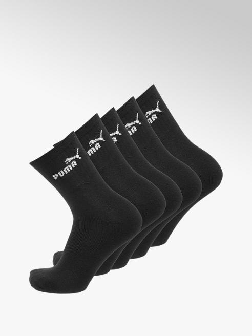 Puma Černé pánské ponožky Puma, 5 párů, vel. 43-46, (1 pár = 49,80 Kč)
