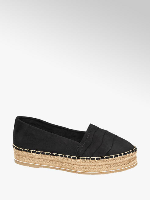 Ellie Goulding collection Zwarte espadrilles plateauzool