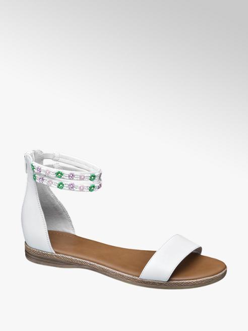 Graceland Witte sandaal strass