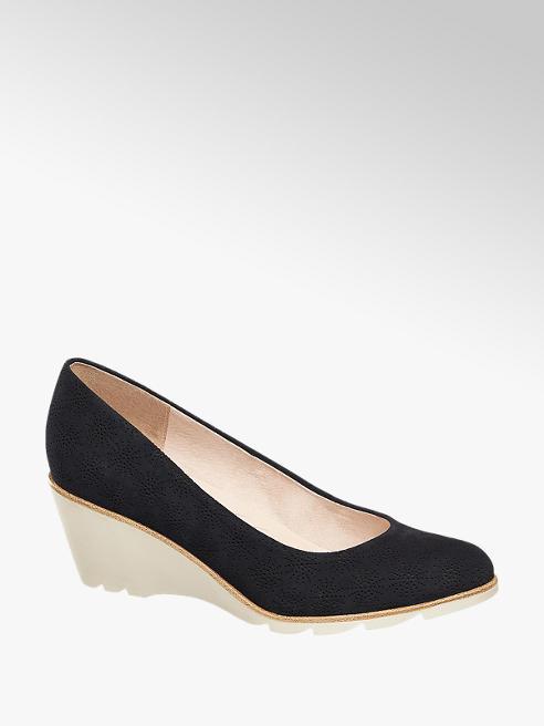 5th Avenue Sapato com cunha de camurça