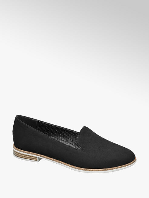Graceland Zwarte loafer kurk