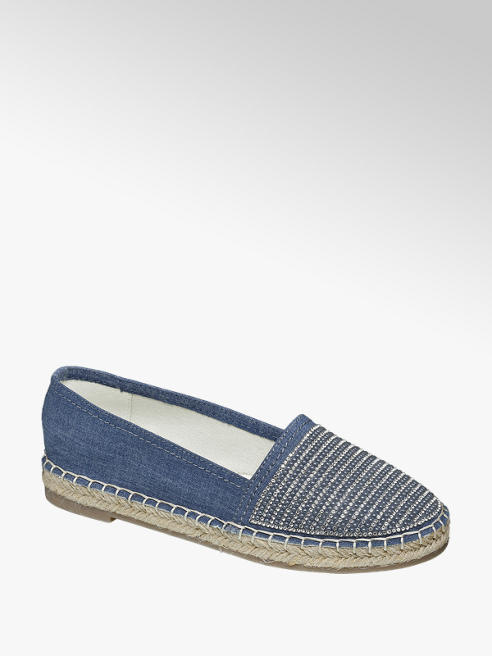 Ellie Goulding collection Blauwe espadrilles denim