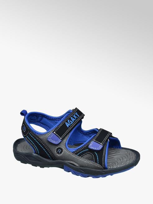 Agaxy Zwarte sandaal klittenband