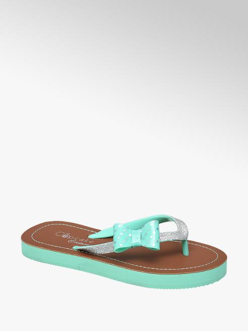 Cupcake Couture Mint slipper glitter