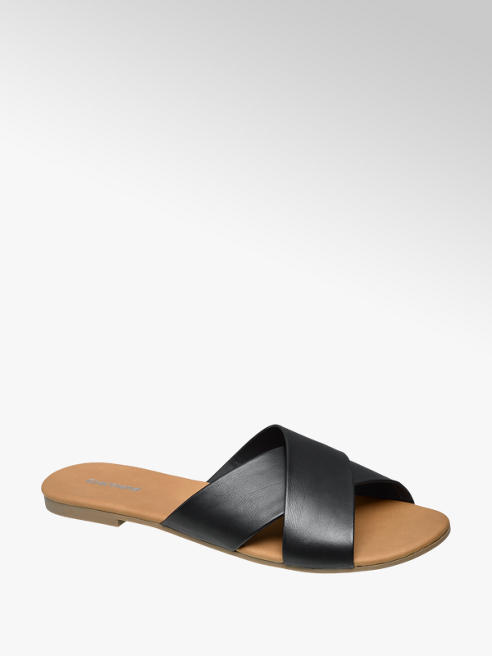 summer black slippers