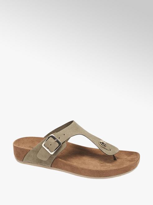 Graceland Groene sandaal gespsluiting