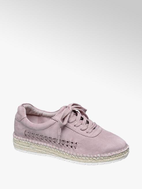 Graceland Roze espadrille sneaker gevlochten